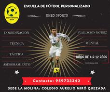 Escuela De Fútbol Personalizado Emzo Sports