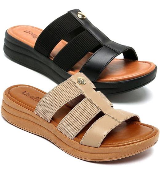 Sandálias Femininas Ortopédica Conforto Usaflex Ab7003