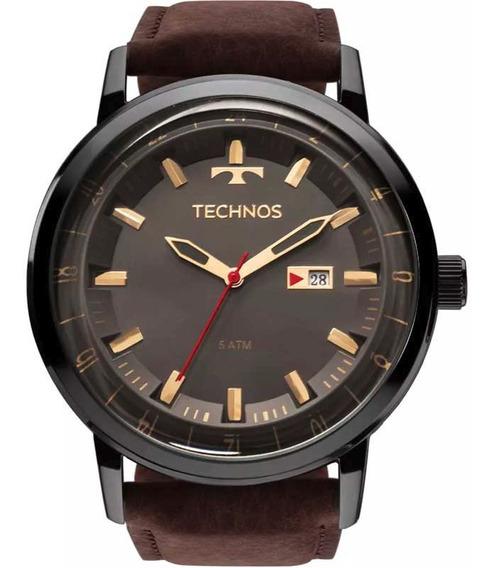 Relógio Original Technos Masculino Classic Golf Couro Marrom 2115laq/2c T44