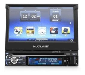 Dvd Gps Retratil 7 Bluetooth Tv Extreme Multilaser Env 24hs