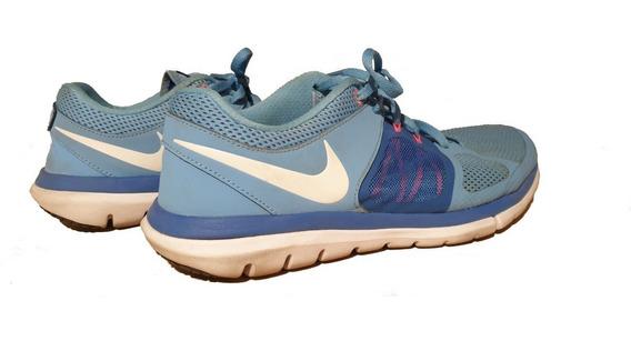 Zapatillas Nike Flex Celestes Talle 41