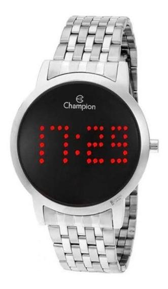 Relógio Champion Ch40008t Prata Digital Led