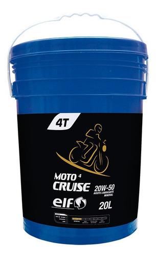 Imagen 1 de 2 de Elf Moto 4 Cruise 20w50 X 20l (mineral 4t)