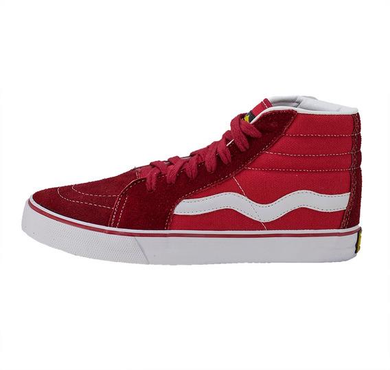 Tênis Mad Rats Sneakers Bota Hi Top Red Original Promoção