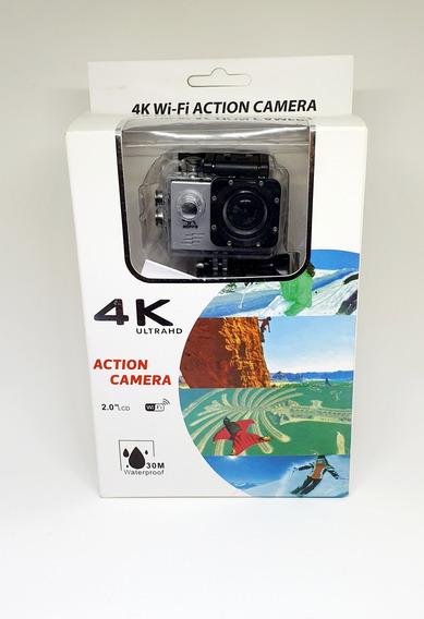 Câmera De Ação Filma Em 4k Inclusos Todos Os Acessórios Padr