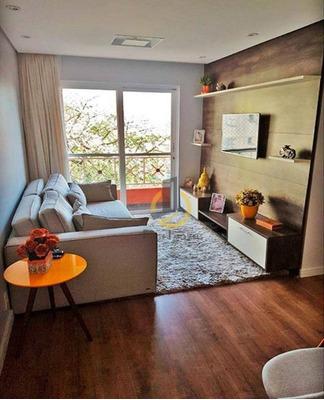 Apartamento Com 3 Dormitórios À Venda, 65 M² Por R$ 350.000 - Vila Firmiano Pinto - São Paulo/sp - Ap0845