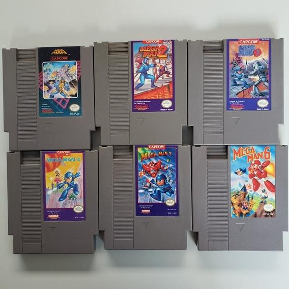 Lote Coleção Mega Man 1 2 3 4 5 6 Original Nes Nintendinho