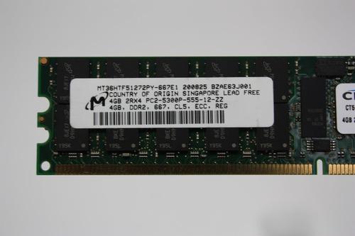 Imagem 1 de 1 de Memória Servidor Micron 4gb 5300 Pn Mt36htf51272py-667e1
