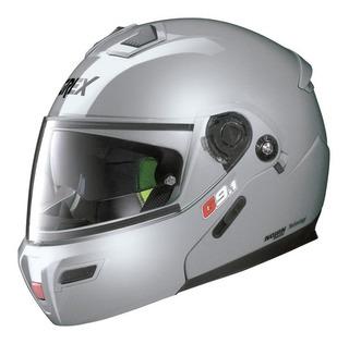 Casco Grex De Nolan Plata G9.1 Abatible Con Gafas