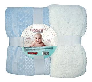 Cobija Para Bebe Baby Borrego Trenzado 80x110 Cm Marca Colap