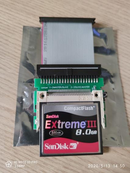 Cartão Cf 8gb + Adaptador Cf+ Cabo Ide44 Amiga Commodore