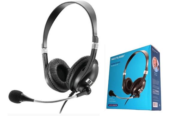 Fone De Ouvido Headset Microfone Flexivel Ph041 Multilaser