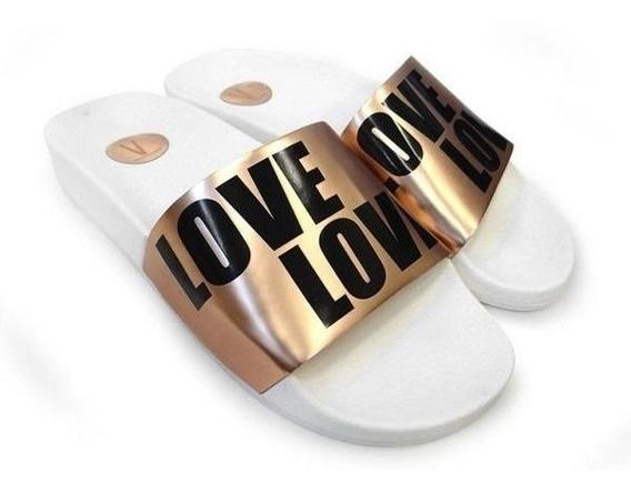 Chinelo Feminino Slide Love Ouro Rosado 6329.104