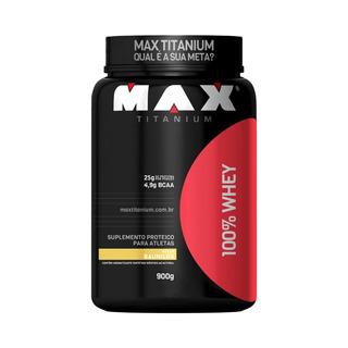 100% Whey Protein 900g - Max Titanium - Baunilha