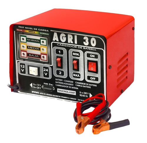 Imagen 1 de 4 de Cargador De Baterias Auto 30 Amp Agri 30 Sincrolamp