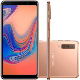 Samsung Galaxy A7 A750f 64/4gb Dual 24mp Dourado Vitrine 1