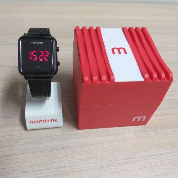Relógio Mondaine Digital Quadrado Preto -32008mpmvpe3
