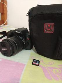 Canon T6i + Cartao De 32g + Bolsa Para Camera