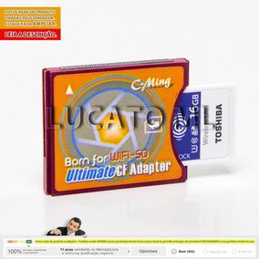 Adaptador Sd P/ Cf2 + Sd Wifi 16gb W04 12x S/j +frete Grátis