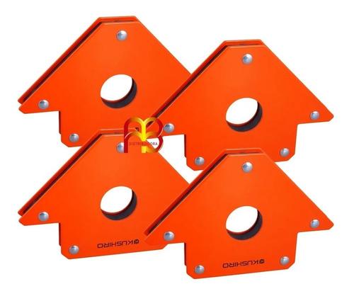 Escuadra Magnetica Para Soldar Soporte Herreria 24 Kg 4 Pulgadas X 4 Unidades