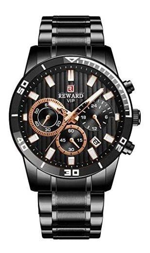 Reloj Reward Vip Para Hombre Elegante Black