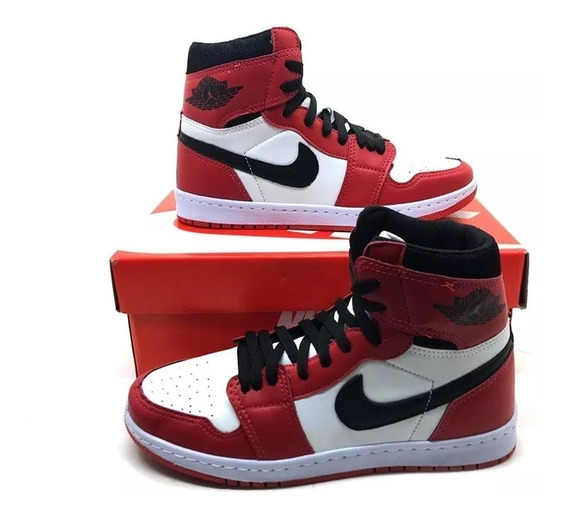 Tênis Cano Alto Air Jordan 1 Chicago Retro High+brinde*!