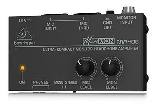 Behringer Micromon Ma400 Amplificador De Auriculares Monitor
