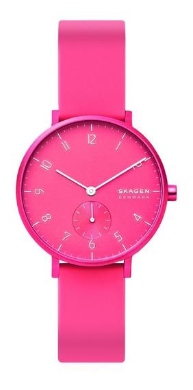 Reloj Unisex Skagen Aaren Kulor Neon Skw2822 Color Rosa