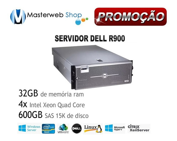 Servidor Dell Poweredge R900 4xquad Core - 32gb - Hd 600gb