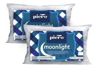 Par De Almohadas Piero Moonlight 80x50 Fibra De Poliéster