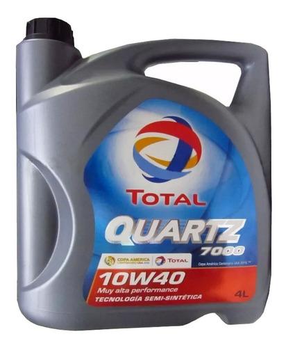 Aceite Total Quartz 7000 Semi Sintético Nafta 10w40 4lts