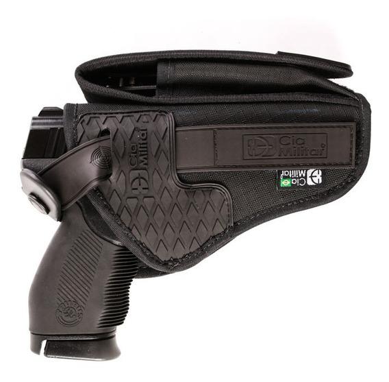 Coldre Cintura Universal Pistola Revolver Pm Top Cia Militar
