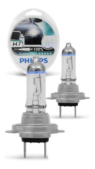 Kit Lâmpada Philips Xtreme Vision H7 55w 3700k 130% Origina