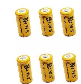 6 Bateria Cr123a Recarregável 16340 Jws
