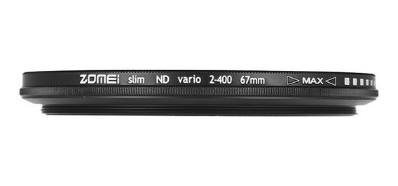 Zomei 67mm Fader Ultra Slim Varivel Nd2-400 Densidade