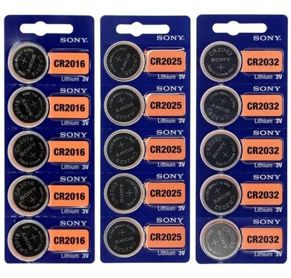 Kit 6 Cartelas Baterias 2016/2025/2032 Sony