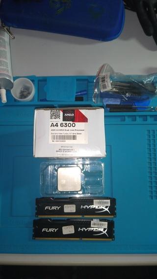 Kit Processador A46300+2 Módulo D Memória Ram 4gb/cada Pente