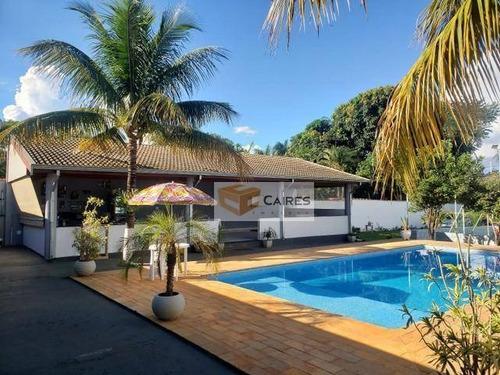 Chácara Com 3 Dormitórios À Venda, 1050 M² Por R$ 850.000,00 - Parque Residencial Regina (nova Veneza) - Sumaré/sp - Ch0118