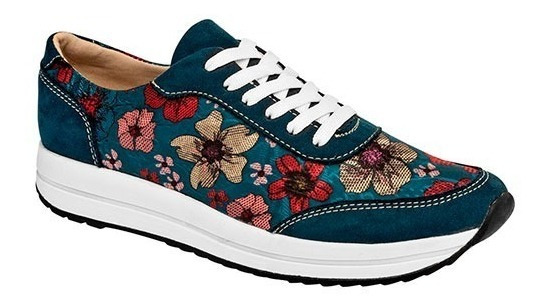 Tenis Casuales Marca Been Class Con Flores 11406 Dog