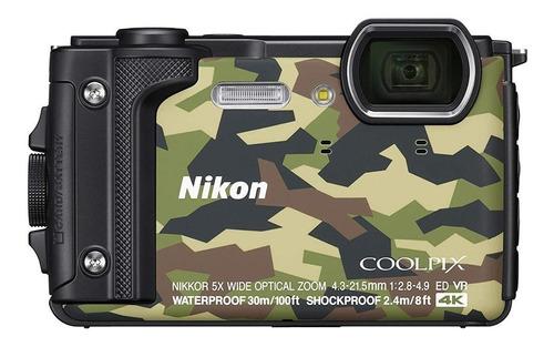 Nikon Coolpix W300 compacta color  verde camuflaje