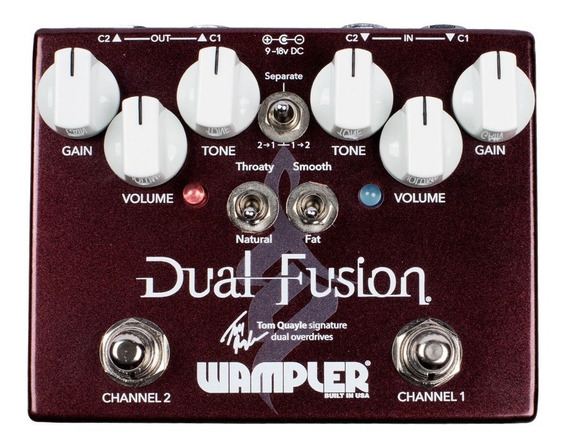 Pedal Wampler Tom Quayle Dual Fusion Overdrive C/ Nf-e
