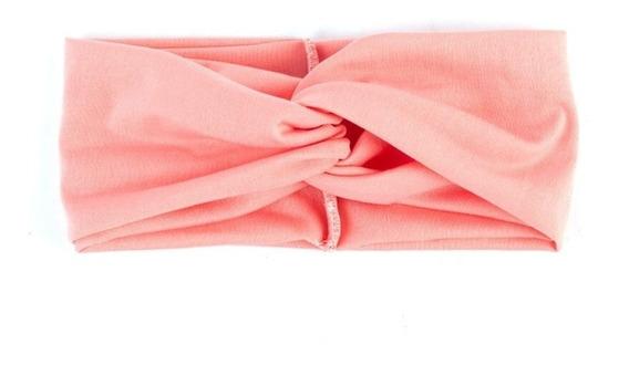 Diadema Nudo Colores Surtidos Tela Moda Coreana Cinta 12 Pza