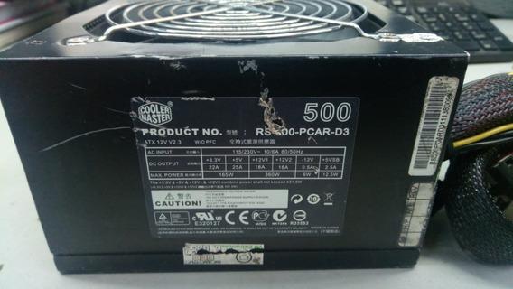 Fonte Atx 24 Pinos + Sata Cooler Master Rs-500pcar-d3 Pci-e