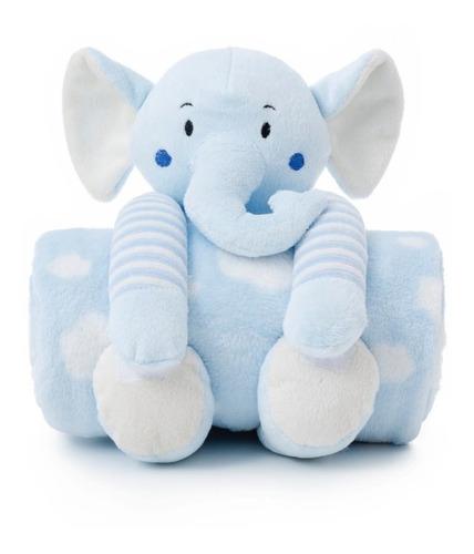 Manta Soft Pelúcia Elefante, Ursinho Cobertor Anti-alérgico