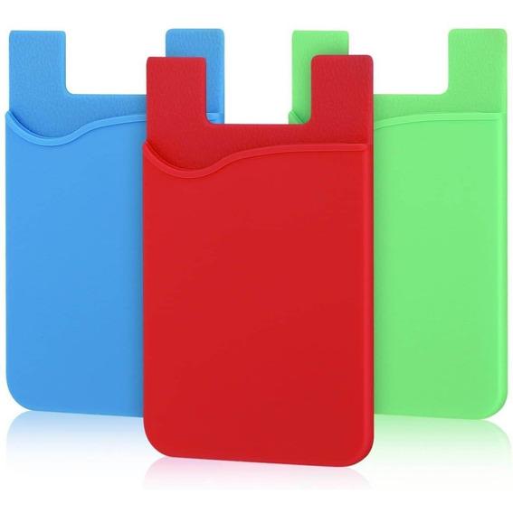 Portatarjetas Pofesun Adhesivo Para Teléfono X3 Unidades