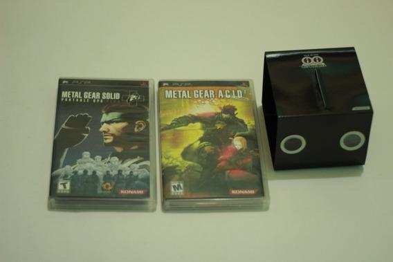 Lote Metal Gear S + Metal Gear Acid 2 Originais Cib Para Psp