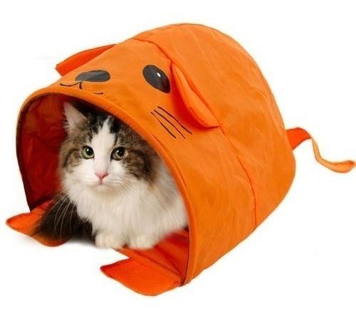Imagen 1 de 5 de Gato Del Animal Doméstico Casa Gatito Cama Ratón Plegable Na