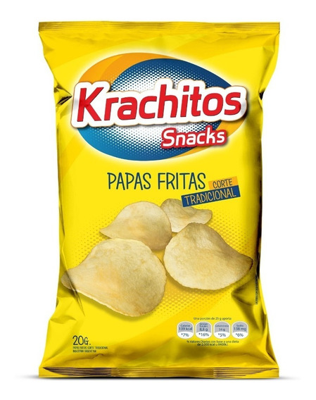 Papas Fritas Krachitos 20g Tira X6u