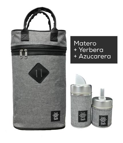 Equipo De Mate Set Matero   Bolso +yerbera +azucarera
