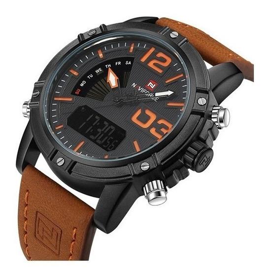 Relógios De Pulso Masculino Naviforce Nf 9095 Digital + Nfe